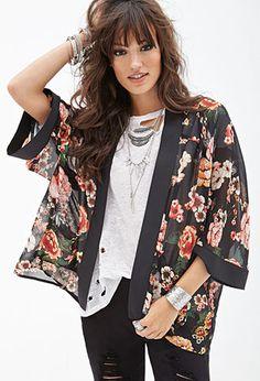 Sheer Floral Kimono | FOREVER21 - 2000120202 $22.90