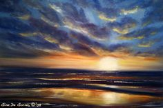 How to paint sunsets -- my weakness...