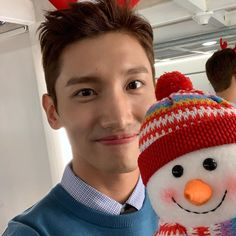 Tvxq Changmin, Chang Min, Aesthetic Wallpapers, Knitted Hats, Sims, Winter Hats, Kpop, Photo And Video, Knitting