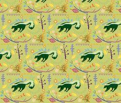 Skunky Wonderland Fabric By Junej On Spoonflower   Custom Fabric