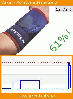 Vulkan - Muñequera de neopreno (Salud y Belleza). Baja 61%! Precio actual 15,75 €, el precio anterior fue de 40,09 €. http://www.adquisitio.es/vulkan/short-wrist-correa-tama%C3%B1o-1