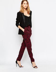 Image 1 of Ganni Leopard Print Pants