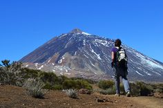 Andy and Mount Teide, Tenerife