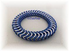 06  Chain Maille Armband  Chainmaille Bracelet von TroisPerles