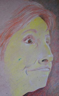 pete holbrook - Chris. just a Quickie. coloured pencils. oct '13