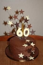 Birthday Cake Chocolate fudge cake with Ganache filling and covering. Stars and numbers are made from cocoform. 60th Birthday Cake For Men, Fish Cake Birthday, 50th Cake, 60 Birthday, Birthday Wishes, Birthday Ideas, Tiger Cake, Mom Cake, Chocolate Fudge Cake