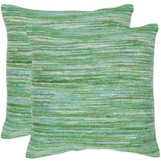 Safavieh 2-piece Eloise Throw Pillow Set ($101) ❤ liked on Polyvore featuring home, bed & bath, bedding, blankets, green oth, green blanket, green bedding, patterned bedding, textured bedding and safavieh