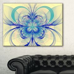 Fractal Flower Pattern - Floral Digital Art Print