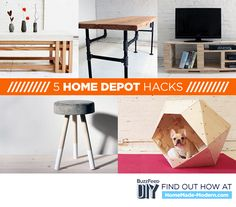 Home Depot hacks:  I love that table!