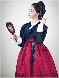 Jewel tone color favorite hanbok lush saturated fashion Korean dress