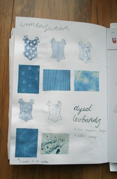 fashion sketchbook,  with fabrics!