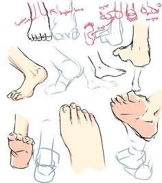 Drawing tutorials - Feet - Imgur | Drawing