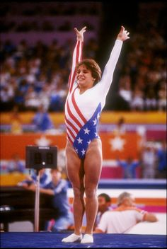 Mary Lou Retton picture, part of a gallery of memorable images from the summer Olympics, featuring women athletes.