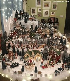 me ~ Nice Christmas village display Merry Christmas Images, Christmas Trends, Christmas Town, Christmas Villages, Rustic Christmas, Christmas Projects, Christmas Holidays, Victorian Christmas, Blue Christmas