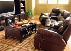 Move your dinner party from the dining room to the living room for prime football watching.  Your guests will love #havertys Stetson Sectional- it's most comfortable seat in the house!