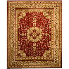 @Overstock - Update your home decor with this gorgeous red and beige Oriental-patterned rug. This rug can really tie your room together.   http://www.overstock.com/Home-Garden/Red-Esfahan-Rug-82-x-910/6562658/product.html?CID=214117 $161.49
