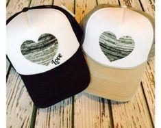Cute hat trucker hat womens hat cute girls hat by ArieBdesigns