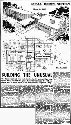 Unbelievable Modern Architecture Designs – My Life Spot Vintage House Plans, Modern House Plans, House Floor Plans, Sims House, Mid Century House, Modern Architecture, Planer, Building A House, Mid-century Modern