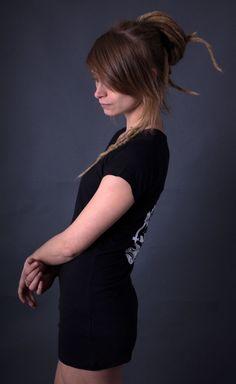 Ladies Slinky T - Gasmask Urbane Mode, Wrap, Lady, Sleeves, Style, Silk Screen Printing, Textiles