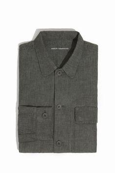 Overshirt thick linen   Adolfo Dominguez