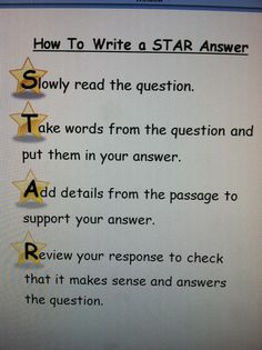 I created this to help my students with writing answers to constructed response questions. Click photo for word file. This will tie in great with my STAR theme. Teaching Writing, Writing Activities, Teaching Tools, Teacher Resources, Third Grade Reading, Third Grade Math, Writing Strategies, Writing Skills, Constructed Response