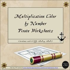Freebie!!! Multiplication Mystery Pictures: Pictures, Pirates, Products. Pirate Multiplication Puzzles There are FIVE different multiplication pictures each, ready for your kids to color as they solve each multiplication equation. Pictures vary in difficulty, ranging in difficulty from a small anchor that only requires two multiplication equation solutions to an almost full page scene with a pirate ship that requires over 50 solutions.