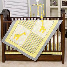 Pam Grace Creations Argyle Giraffe 10-Piece Bedding Set - Yellow and Grey - Babies R Us Bedding Sets
