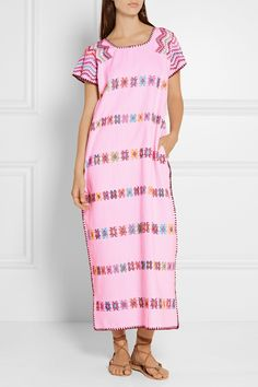Pippa Holt | Embroidered woven cotton kaftan | NET-A-PORTER.COM