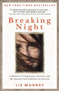 Breaking night by Liz Murray. The story of Homeless to Harvard. Such an inspirational and moving book. One of my favorites!