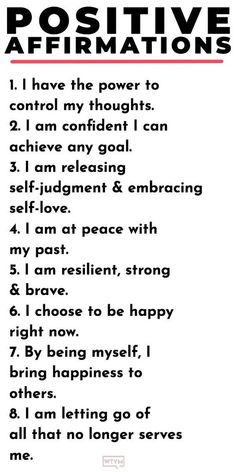 Positive Affirmations For EveryDay Life!