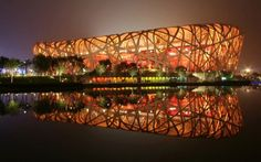 Beijing National Stadium, China. Affectionately known as Bird's Nest, it was designed to be the main stadium of the 2008 Beijing Olympic Games. The opening and closing ceremonies and athletic track and field events took place at the stadium.