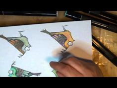 COLOURING WITH SPECTRUM NOIR MARKERS - BIRD CRAZY TIM HOLTZ -  SHRINK PL...