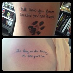 I'll love you forever, I'll like you for always, as long as I'm living, my baby you'll be.  (New) father/daughter tattoo.