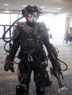 Guy in crazy detailed star trek theme halloween costume of character star trek borg costume. & borg costume diy - Google Search   S T E A M P U N K ...