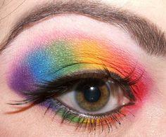 Rainbow Eyes for Halloween