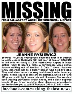 ATTN: #TEXAS.  #MISSING SINCE 16SEP12.  Posted 08NOV12; reposted 16NOV12.  #Dallas #Fort_Worth #airport #brown #blue