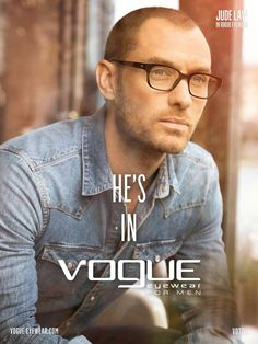 Jude Law | Le Boudoir Blanc: Jude Law for Vogue Eyewear for Men