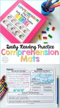 Comprehension Mats provide teachers with reading passages and follow-up activities to help build student fluency and comprehension skills. Use for classroom literacy centers, morning work, and small groups. #readingcomprehension #teachreading #reading #earlyliteracy #readingfluency #literacycenters
