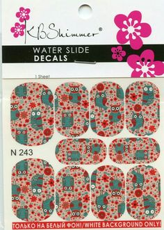 KB Shimmer Water Slide Decals