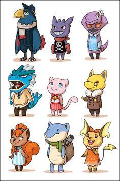 """ Pokemon x Animal Crossing! """