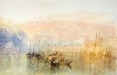 William Turner -  Venice, Entrance to Grand Canal