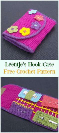 Crochet Leentje's Crochet Hook Case Free Pattern-#Crochet #HookCase & Holders Free Patterns