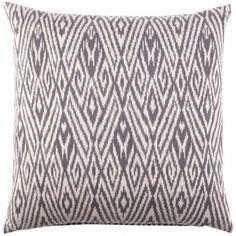 Fog Ikat Decorative Pillow