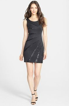 b164017ddc Free shipping and returns on GUESS Sequin Embellished Scuba Sheath Dress at  Nordstrom.com.