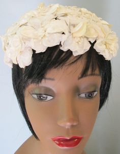 Lovely Floral Headpiece /Bandeau /Hat / Summer by MISSVINTAGE5000, $25.00