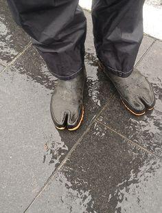 "Jika-tabi, or split-toed ""tabi boots"" help jinrikisha (rickshaw) runners carry customers in style and comfort. Read more here."