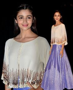 Alia Bhatt looked chic in he Manish Malhotra lehenga
