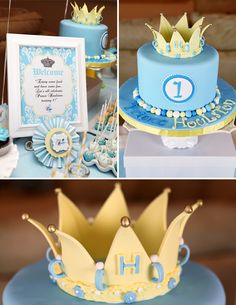 Royally Sweet 1st birthday party for a little prince!