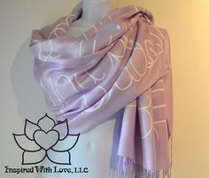 Custom Hand-painted Script Pashmina Script Thistle Scarf (Viscose/Acrylic blend) - Made to Order