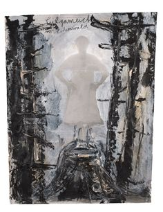 ANSELM KIEFER Gilgamesch 1969 Paint and charcoal on black and white photograph 76 x 58.5 cm